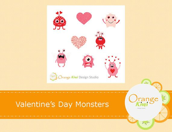 Valentine's Day Monster Stickers Monster Stickers