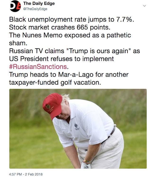 Do they golf in Russia?? Asking for a traitor who is getting ready to defect to there...