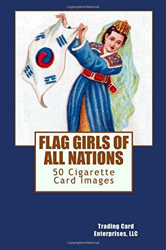 FLAG GIRLS OF ALL NATIONS is a 25 and a 50 cigarette card set issued in 1908 by W.D. & H.O. WILLS.  The 50 card set includes the cards in the 25 card set.  The card fronts show a woman dressed in native costume while holding a flag representing her nation. This book contains images of the fronts of the 50 cigarette card set.   The card backs are identical, depicting the W.D. & H.O. WILLS brand.  This book contains an image of the back of a FLAG GIRLS OF ALL NATIONS cigarette card.