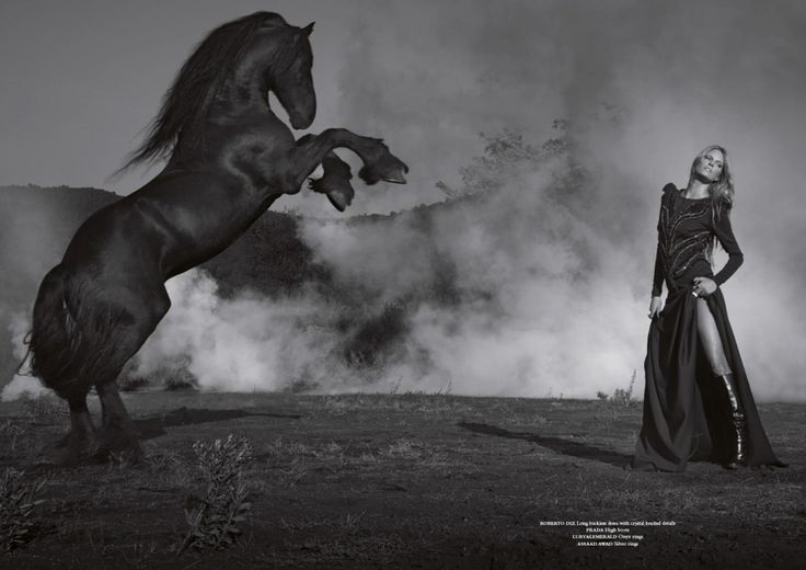 www.pegasebuzz.com | Paraskevas Boubourakas and Cristina Tosio by Jaume de Laiguana for Horse Magazine #5.