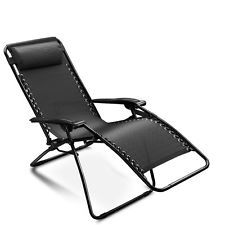 Folding Zero Gravity Chair Recliner Outdoor Beach Patio Garden Yard Pool Lounge