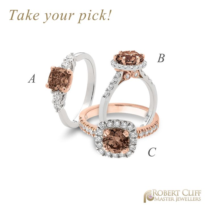 Mmmmmm chocolate!! Which is your fave? :)  #chocolatediamond #engagementring #jewellery