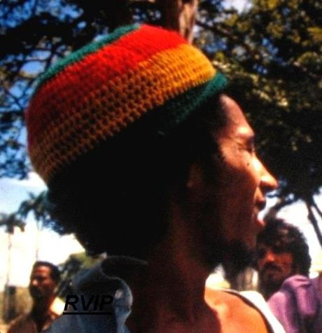 **Bob Marley** Trinidad, 1973. Promotional visit to Trinidad with Esther Anderson & Chris Blackwell, shortly after The Wailers signed to Island Records. Story behind the picture: https://massappeal.com/contact-high-esther-anderson-on-photographing-bob-tuff-gong-marley-circa-1973. More fantastic pictures, music and videos of *Robert Nesta Marley* on: https://de.pinterest.com/ReggaeHeart/ ©Esther Anderson