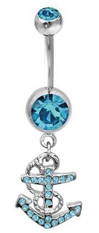 Blue anchor. If I wasn't terrified of getting my belly pierced I would get this!