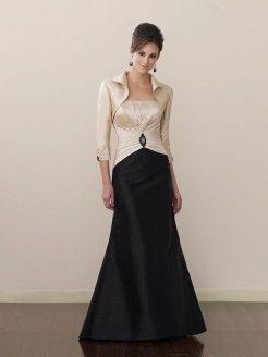 A-line/Princess Strapless Sleeveless Rhinestone Floor-length Taffeta Mother Of The Bride Dresses