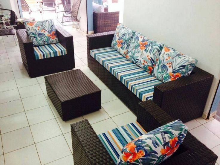 Jogo de sofá Califórnia 3 lugares - Trama Brasil Móveis Artesanais