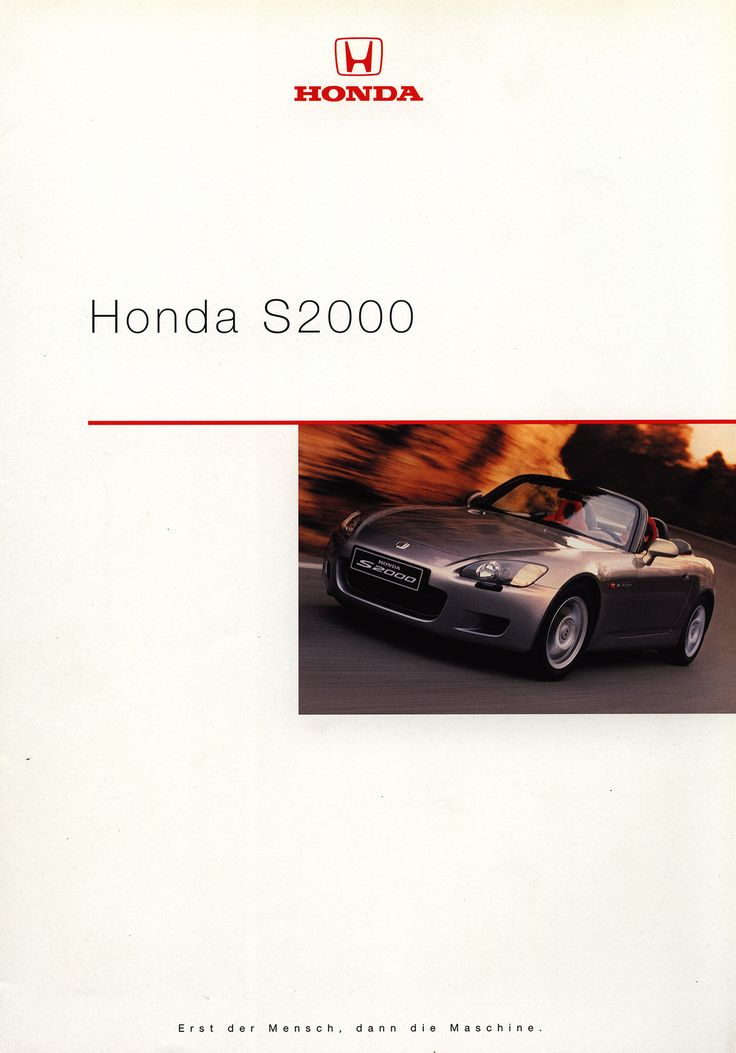 https://flic.kr/p/FiEqZE | Honda S2000; 1999_1 | front cover car brochure by worldtravellib World Travel library
