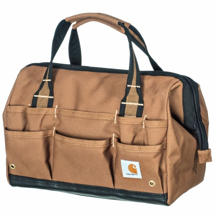Carhartt Bags: 260105 02 Carhartt Brown Legacy Water-Repellent 14-Inch Tool Bag #CarharttClothing #DickiesWorkwear #WolverineBoots #TimberlandProBoots #WolverineSteelToeBoots #SteelToeShoes #WorkBoots #CarharttJackets #WranglerJeans #CarhartBibOveralls #CarharttPants