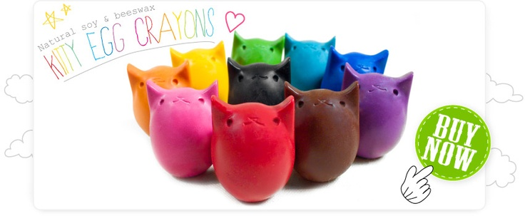 Kitty Egg Crayons by Kitty Baby Love