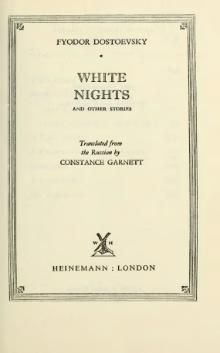 White Nights and Other Stories by Fyodor Dostoevsky