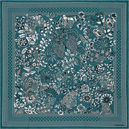 La Maison des Carrés Hermès | Fleurs et Papillons de Tissus