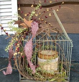 Old Bird Cage Battery Timer Candle Just Country By Karen Things