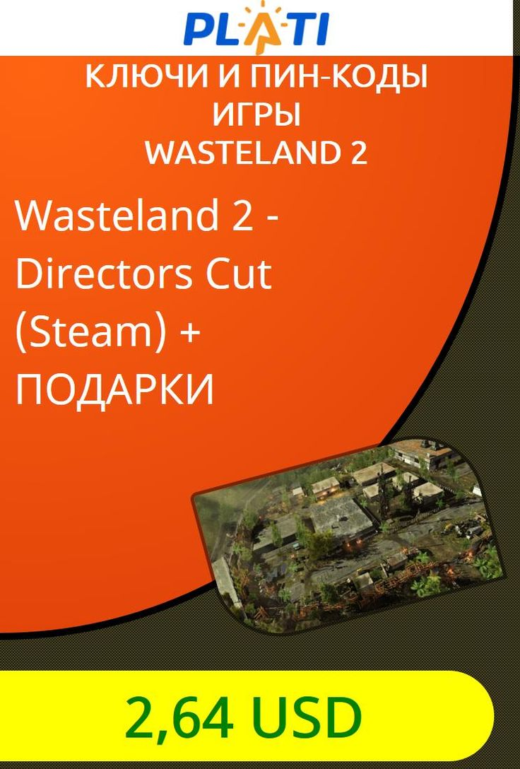Wasteland 2 - Directors Cut (Steam)   ПОДАРКИ Ключи и пин-коды Игры Wasteland 2