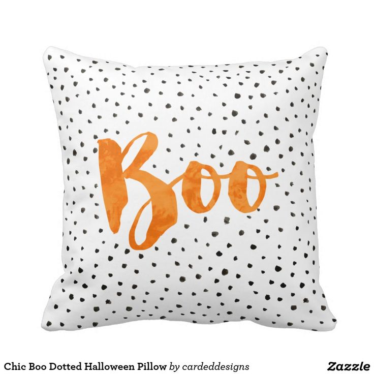 Chic Boo Dotted Halloween Pillow