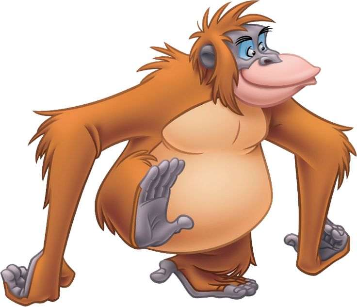 Images of King Louie from The Jungle Book.