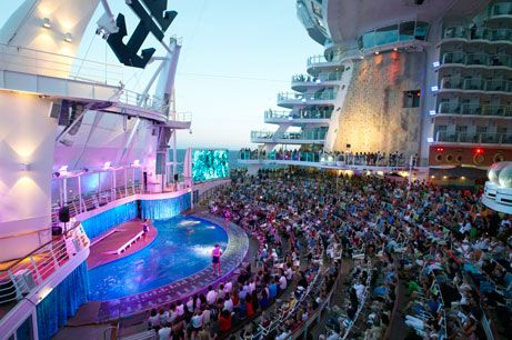 Diving Show on-board Oasis of the Seas - Click Image to Learn about Royal Caribbean International - Expedia CruiseShipCenters -