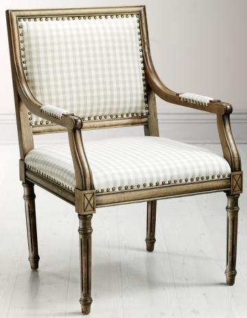 Marais Arm Chair in ivory plaid - lovely as an occasional ...