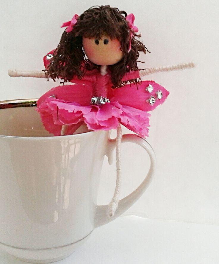 muñeca de hadas, hada de la flor, la muñeca flexible, hada del ciruelo del azúcar, juguete, muñeca Waldorf