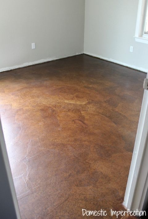 Laundry Room Floor Ideas: Guest Room Paper Flooring (and Why I'm Disappointed With