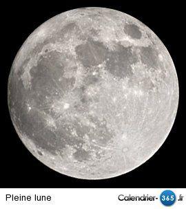 Phases de la lune 2017 & 2018