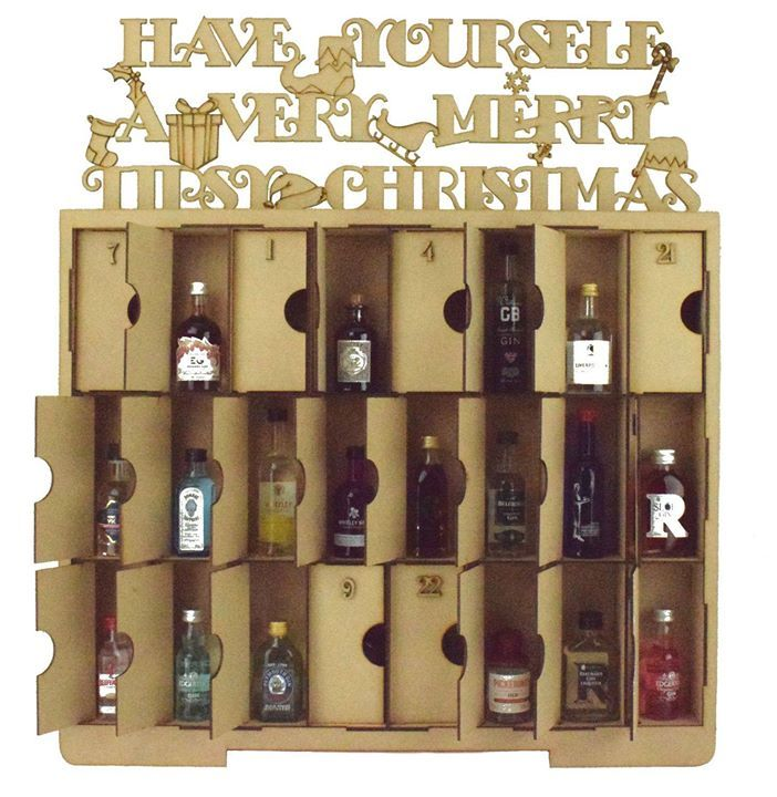 So who fancies 'A Very Tipsy Christmas' this year?  NEW Gin advent Calendar which holds any Alcohol Miniatures of your choice.