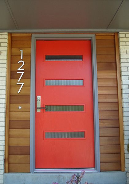 Crestview doors pictures of modern front doors for mid for Modern exterior doors