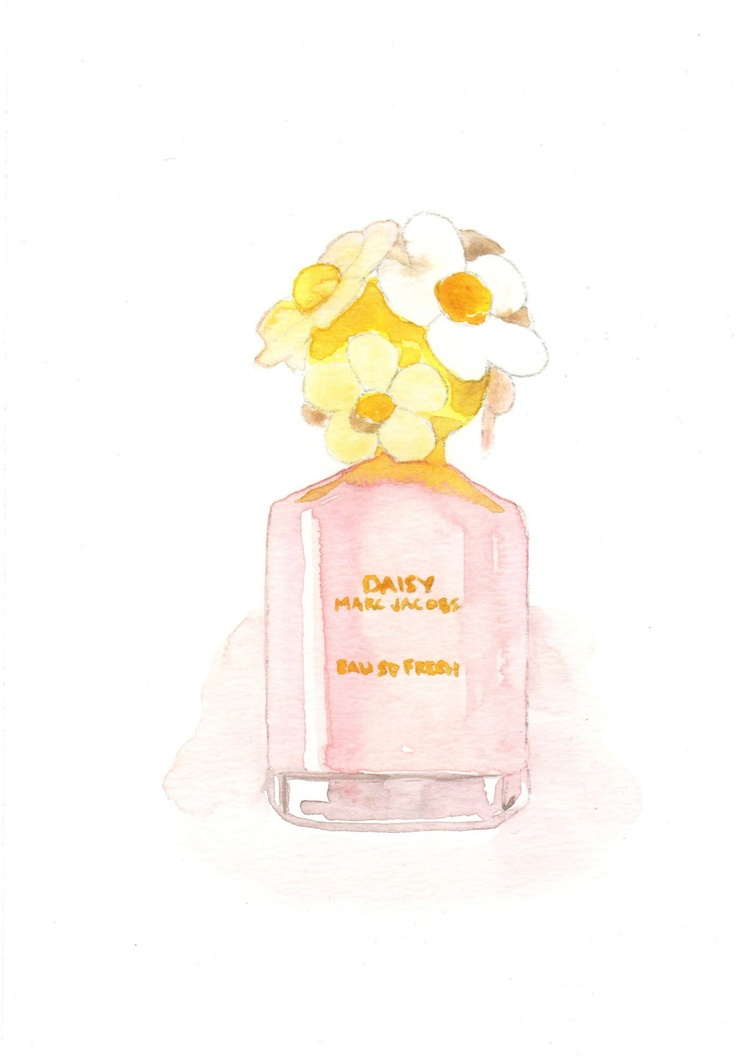 marc jacobs daisy eau so fresh fragrance watercolor. Black Bedroom Furniture Sets. Home Design Ideas