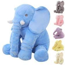 Bebé Elefante Peluche Suave Grande Dormir Almohada Cojín Lumbar Niños Juguetes Regalos