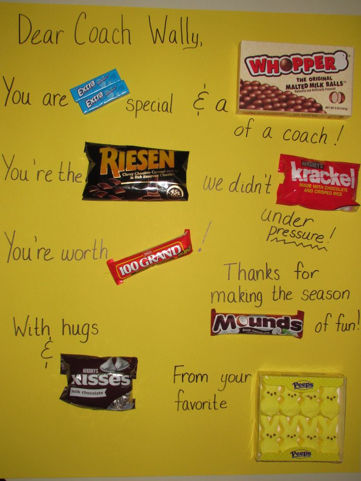 Candy Card for kids' sports coach