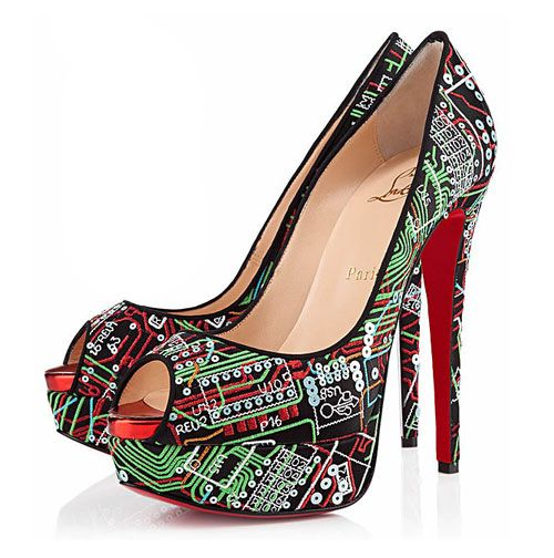 The ultimate in geek chic, these Christian Louboutin heels take tech-inspired fashion to the next level.