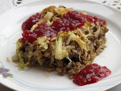 Cabbage bake or cabbage pudding - a Swedish traditional dish