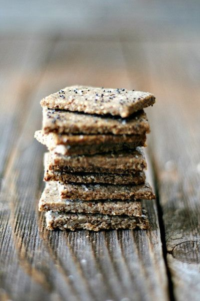 Gluten Free Nut Crackers  -- Ingredients: 1 cup of walnuts*  1/4 cup of almonds*  1/4 cup of flax seeds*  1 egg*  salt to taste*