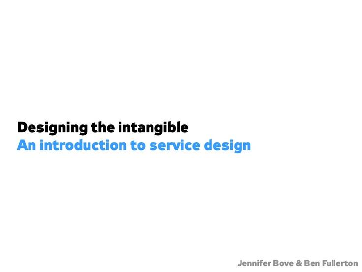 Designing the Intangib...