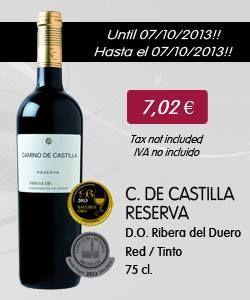 Camino de Castilla Reserva - 75 Cl. (Red wine with D.O. Ribera del Duero)