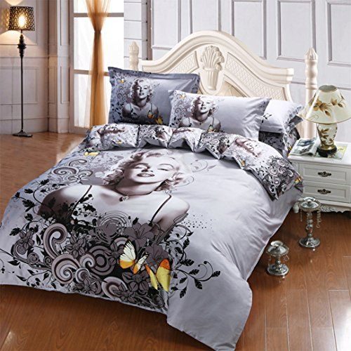 Marilyn Monroe Bedding Set Queen Size Marilyn Monroe Sheets 100 Cotton 5pcs E Bedding Sets
