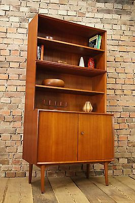 60er Danish Wilhelm Renz TEAK REGAL SIDEBOARD KOMMODE HIGHBOARD Mid Century 60s