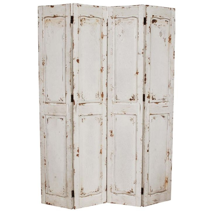 White rustic room divider #screenfor between kay's and my room! Even have the shutters in our attic!