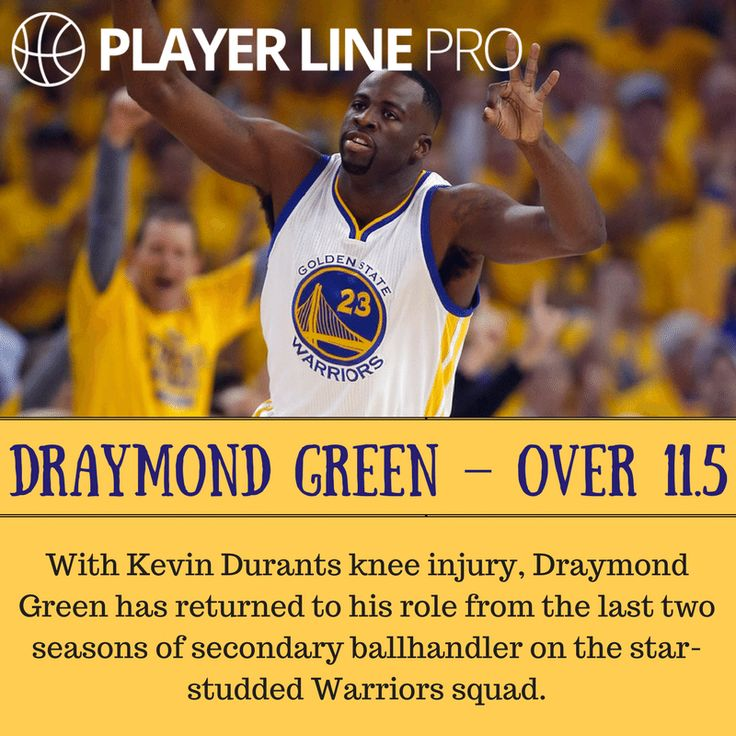 With Kevin Durants knee injury, Draymond Green has returned to his role from the last two seasons of secondary ballhandler on the star-studded Warriors squad. For more tips, visit: playerlinepro.com #NBAdailypicks #NBAdailytips #DraymondGreen #PlayerLinePro #playerline