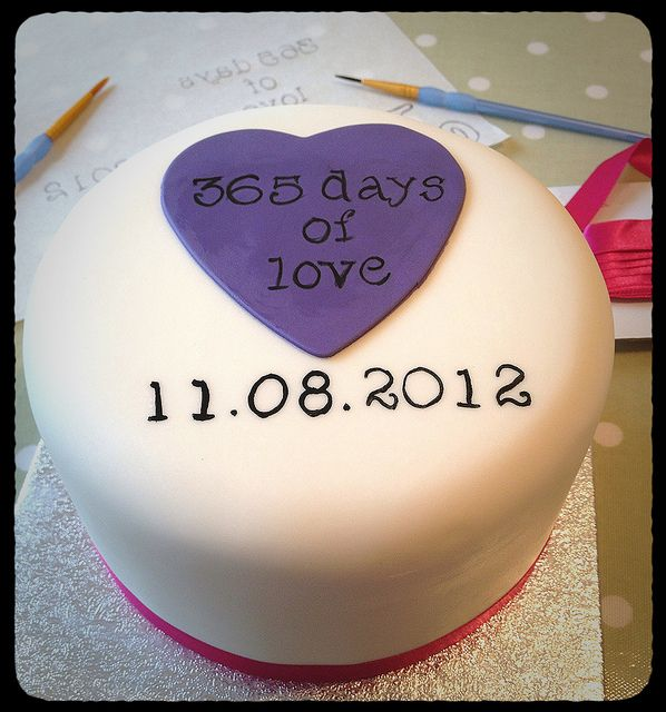1st Wedding Anniversary Cake