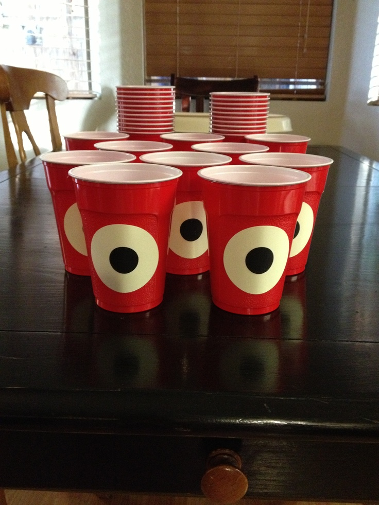 Yo Gabba Gabba Muno Solo Cups for my daughters 2nd Birthday Party. Themed creative decor made her birthday party THAT much more special!