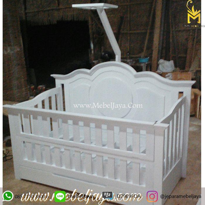 Tempat tidur bayi desain OVAL dengan laci besar bagian bawah untuk menyimpan keperluan baby Anda - Ranjang Bayi Laci Duco Oval