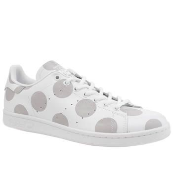 Mens White \u0026 Grey Adidas Stan Smith Trainers | schuh