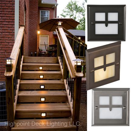 Golden Gate LED Recessed Stair Light - Craftsman Style