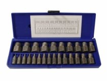 Irwin Industrial Tool 53227 Hex Head Multi-Spline Extractor Set, 25-Piece