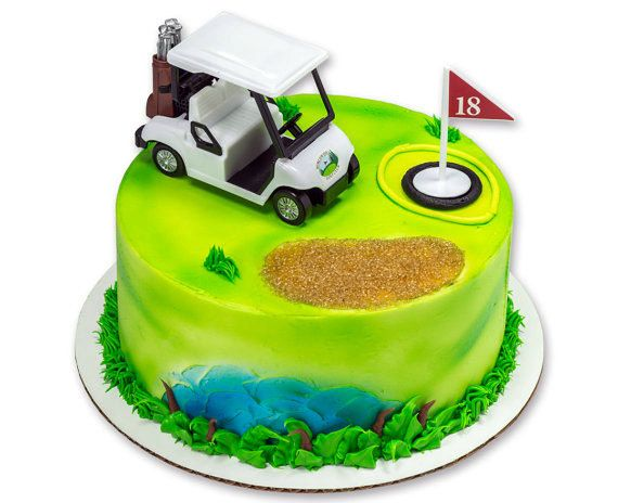 Heading for the Green White Golf Cart Decorating Kit Topper Decoration Party Bakery Supplies golfing golfer Father's Day – Бэтмен