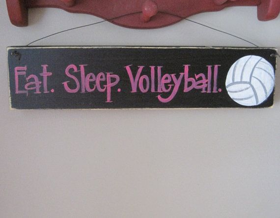 volleyball sports sign teen by terenaswoodensigns - Volleyball Bedroom Decor