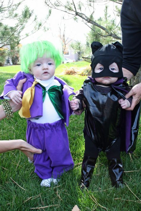 batman villains the joker and catwoman - Infant Penguin Halloween Costume