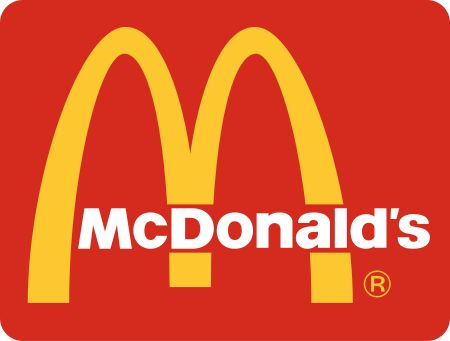 McDonald's Logo - red encourages appetite and a sense of urgency, while yellow creates a cheerful feeling and catches the eye.