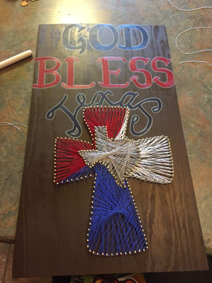 God Bless Texas. String Art.