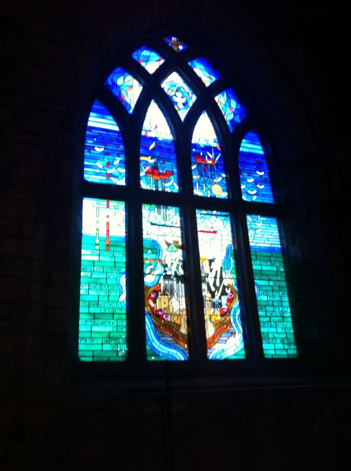 10/9/16- The Mither Kirk. The Piper Alpha Memorial window